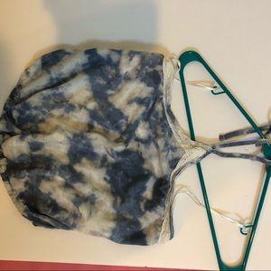 Hollister S tie dye crop halter top